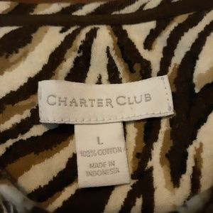 Charter Club animal print shirt